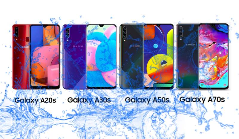 Do Samsung Galaxy A20S, A30S, A50s, and A70s have Waterproof and Dust protection?