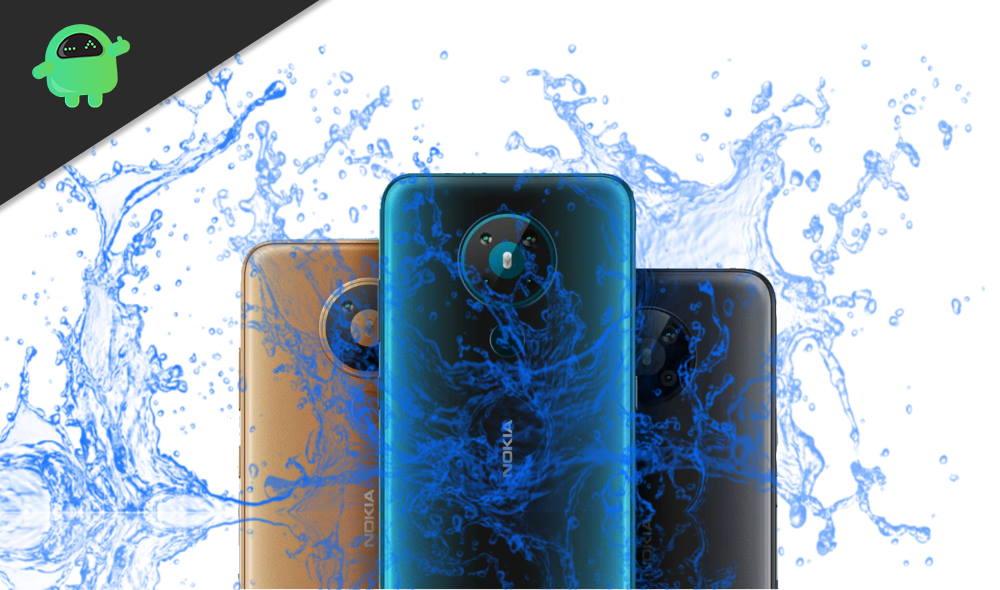 Is Nokia 1.3, Nokia 5.3 or Nokia 8.3 5G Waterproof smartphones