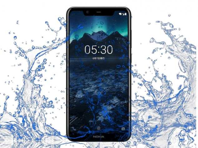 Is Nokia X5 a waterproof device?