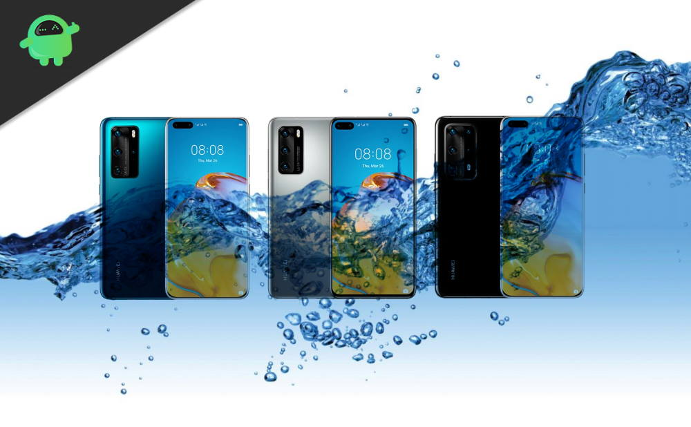 Which Huawei P40 is a Waterproof device? Huawei P40, P40 Pro or Pro+?