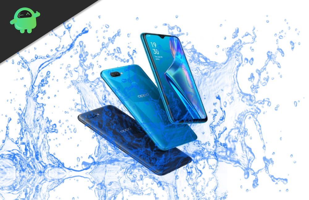 Which Oppo device is Waterproof - Oppo A92, Oppo A72, Oppo A52, or A12