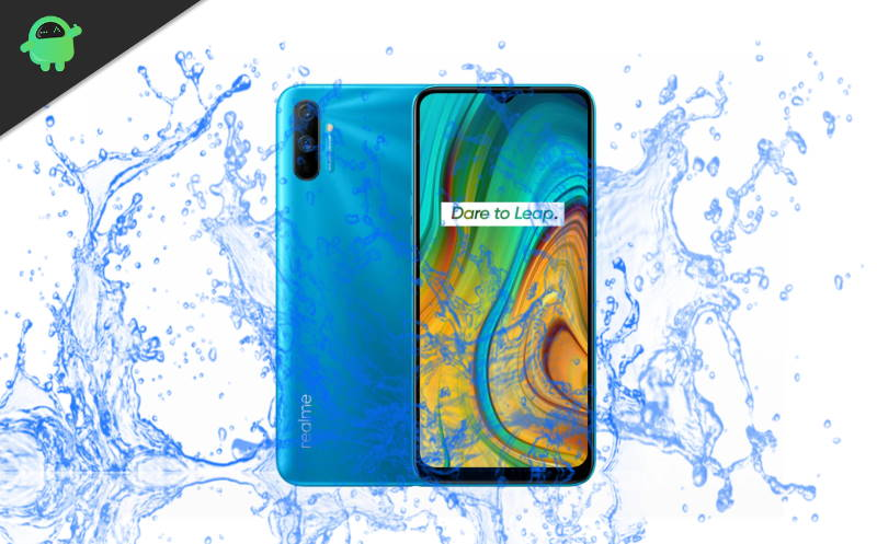 Did Realme C3 launch with waterproof test?