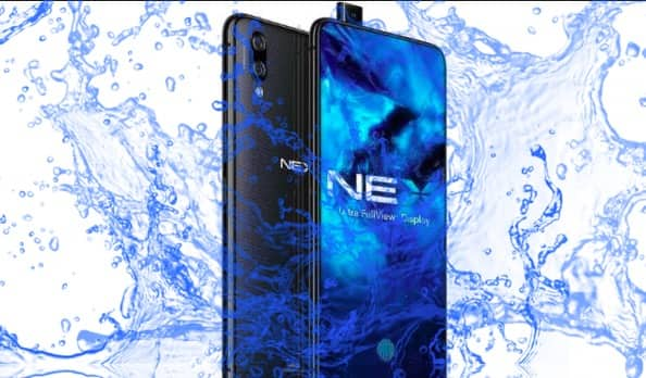 Is Vivo Nex Waterproof device with all new design ?