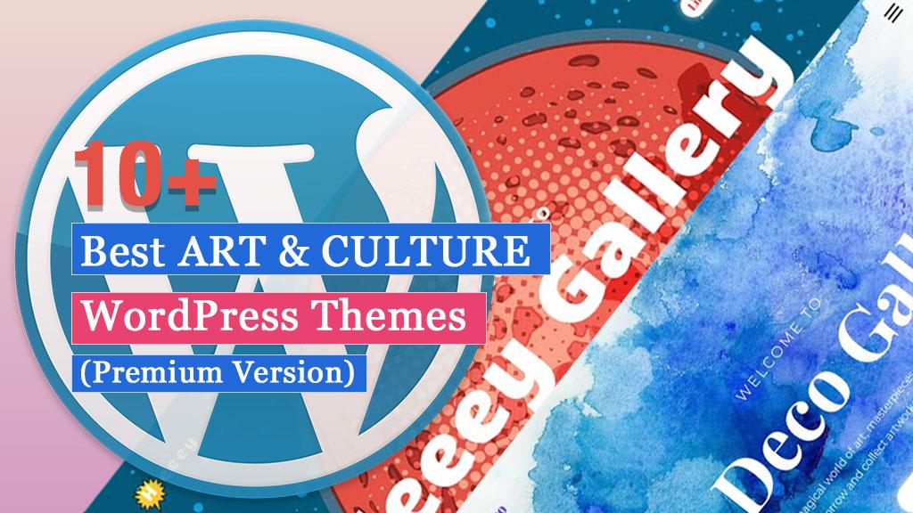 10+ Mejores Temas de WordPress para ARTE Y CULTURA