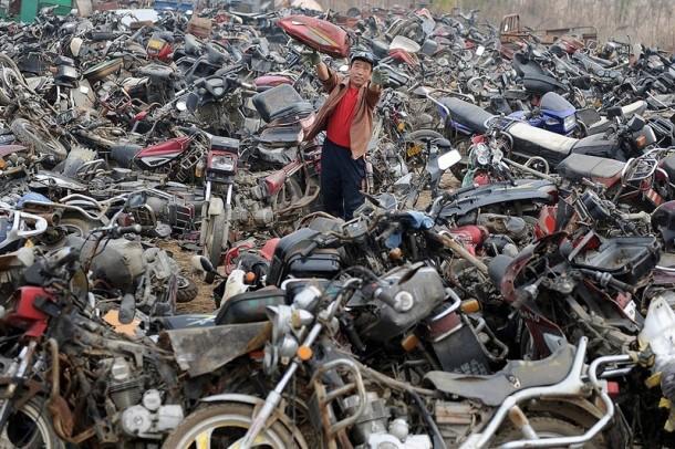 contaminación del depósito de chatarra de china 3