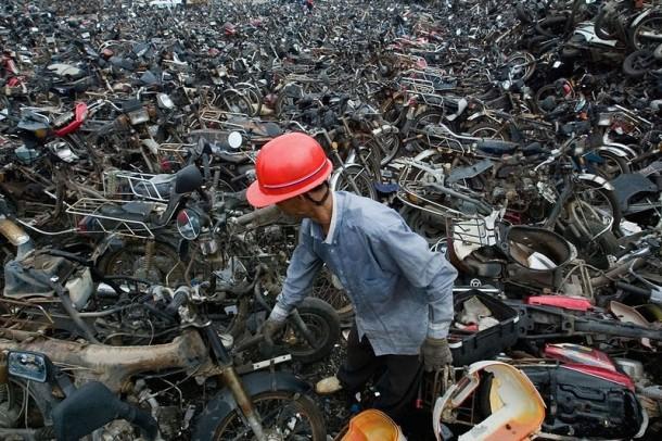 contaminación del depósito de chatarra de china 6