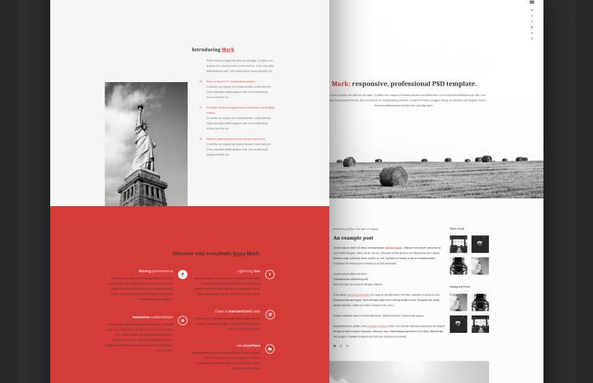 portfólio značiek adobe web design photoshop šablóna zadarmo psd