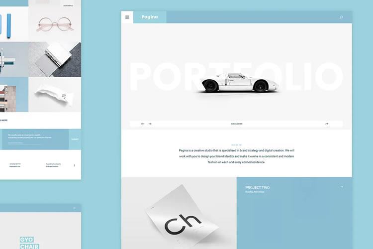 10 darmowych szablonów internetowych PSD Photoshop do osobistego portfolio