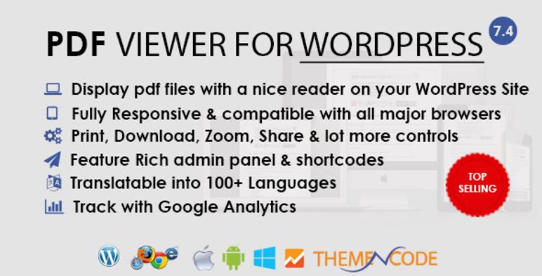 Przeglądarka plików PDF dla wtyczki WordPress