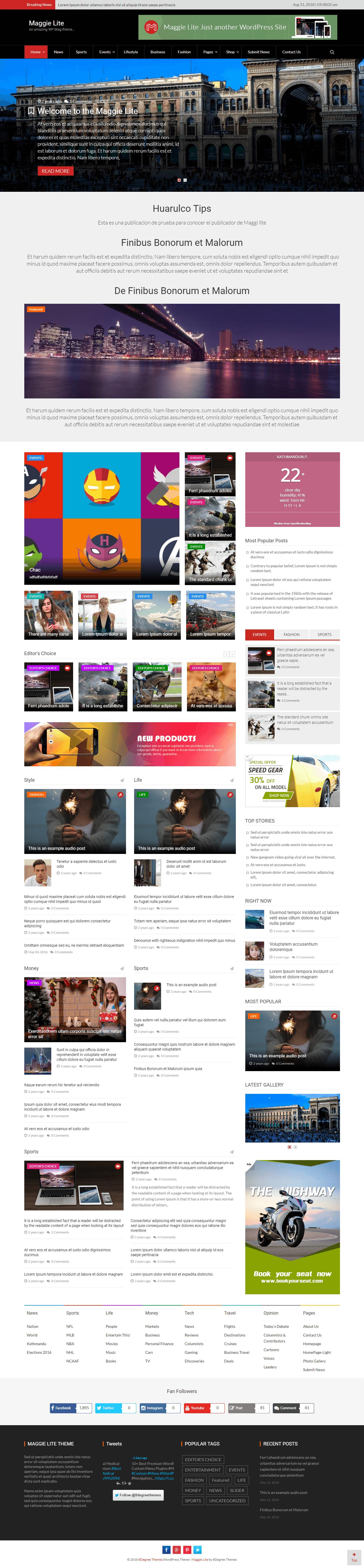 Maggie Lite - Najlepšie bezplatné témy pre službu AdSense pre WordPress