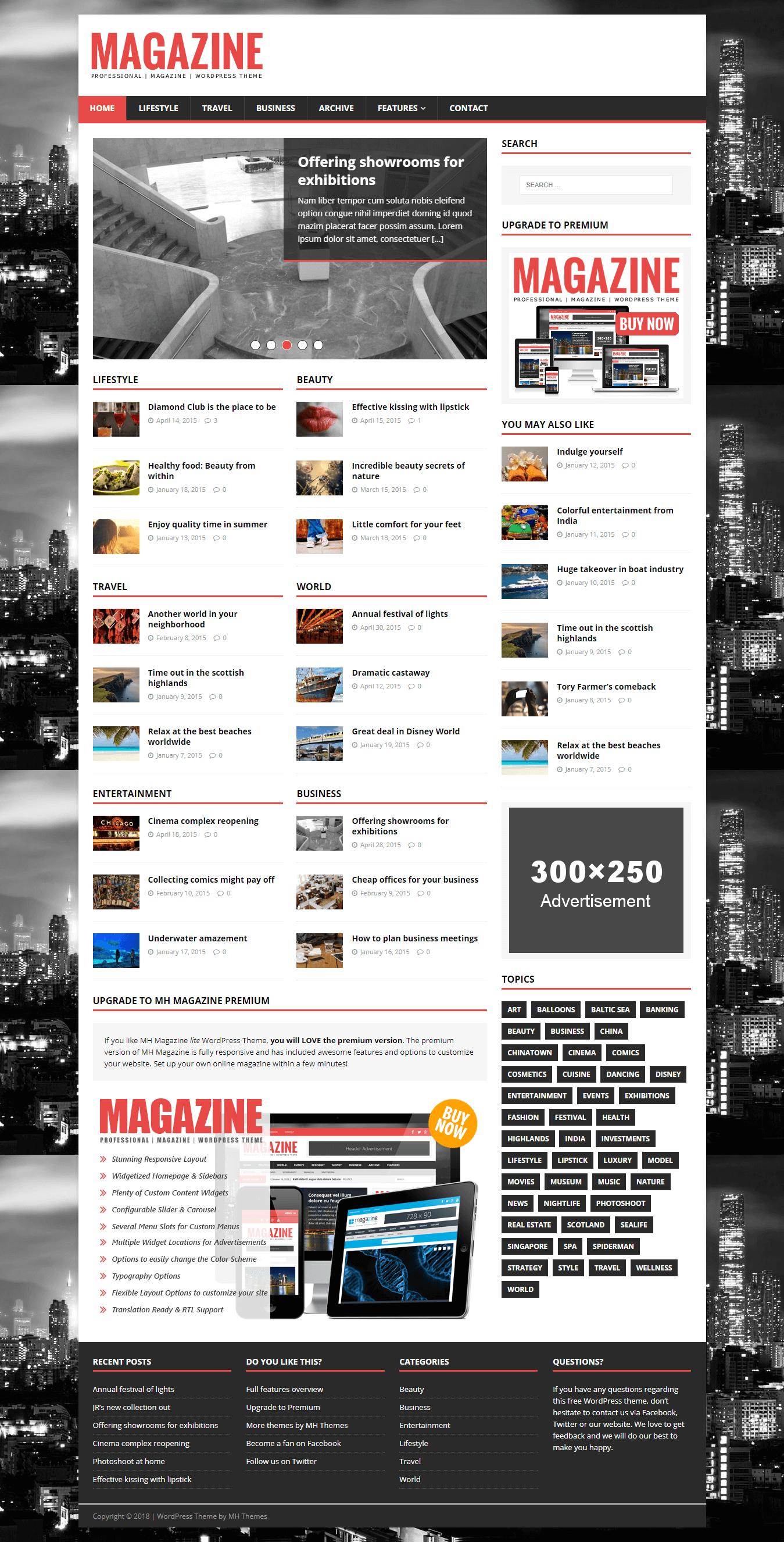 MH Magazine Lite - Najlepšie bezplatné témy pre WordPress Adsense