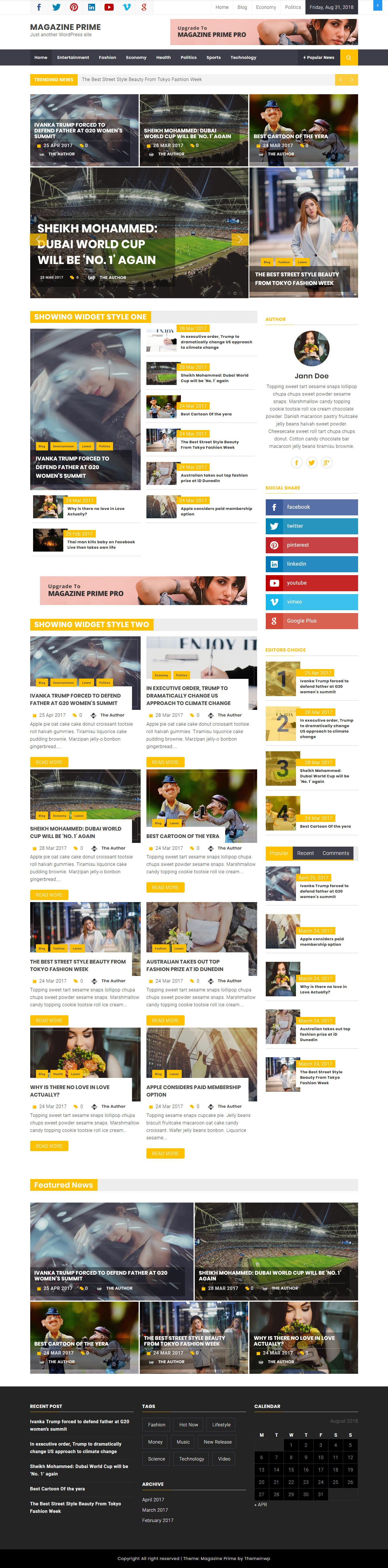 Magazine Prime - najlepšie bezplatné témy pre službu AdSense AdSense