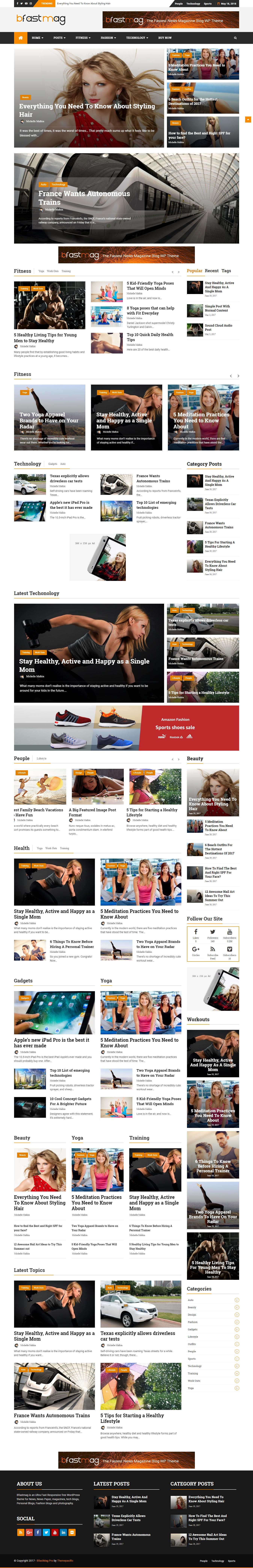 bFastMag - Najlepšie bezplatné WordPress Témy AdSense
