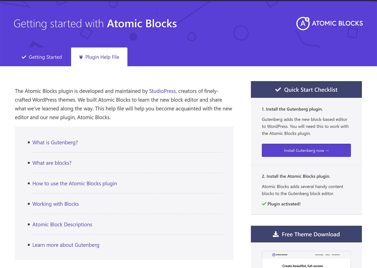 Počnúc atómovými blokmi