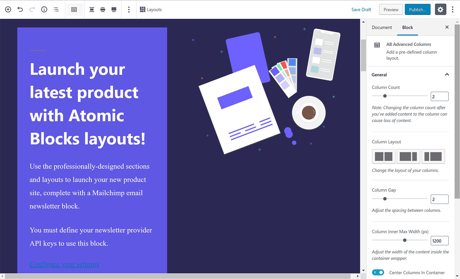 Diseño de lanzamiento de producto