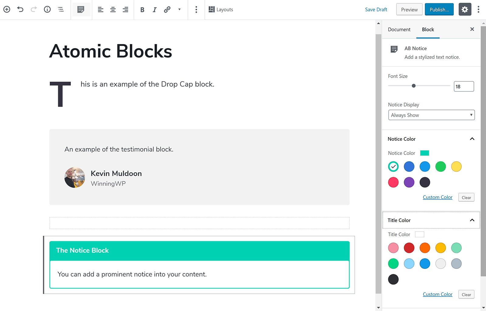 Upravte svoj obsah pomocou atómových blokov