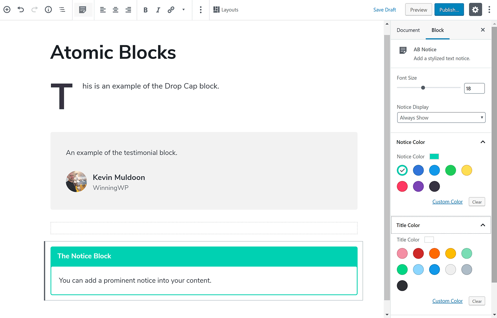 Dale estilo a tu contenido con bloques atómicos