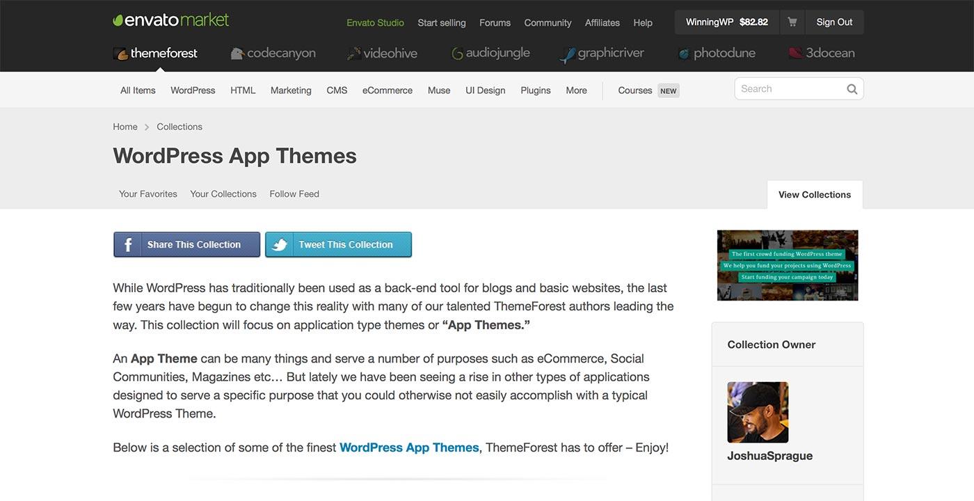 ThemeForest - مواضيع التطبيق