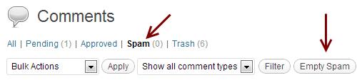 comentarios de spam