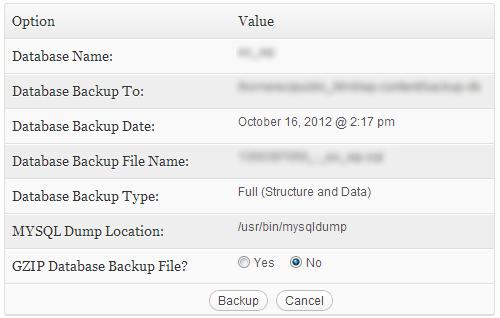 zálohovacia databáza