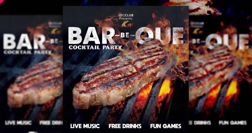 BBQ Party Flyer Template Photoshop PSD