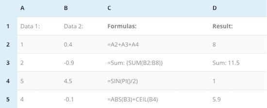 1c Fórmulas de TablePress