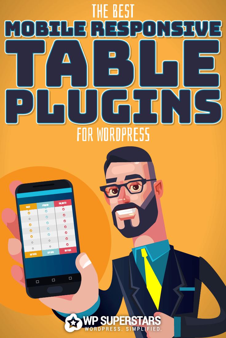 Los mejores complementos de tabla de respuesta móvil para WordPress