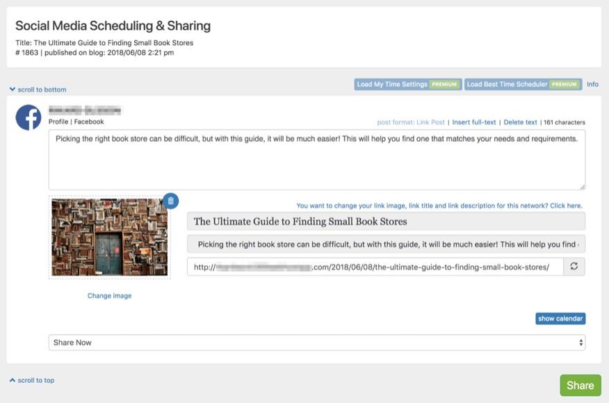 Blog2Social: Programación automática de publicaciones