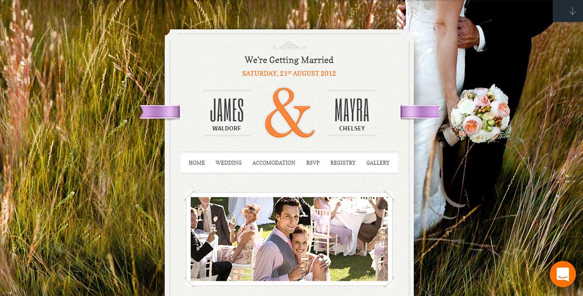 Tema de WordPress Just Married