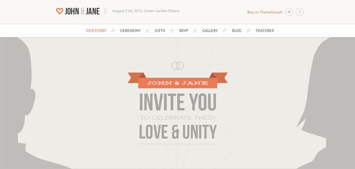 Tema de WordPress para bodas