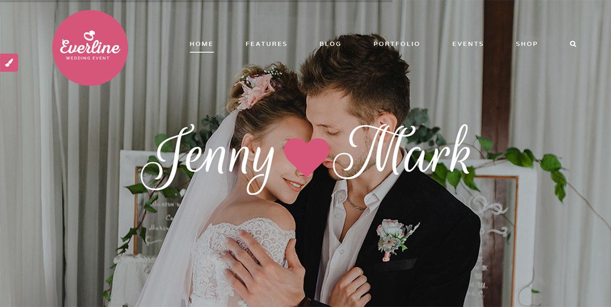 Everline - Tema de WordPress para eventos de bodas