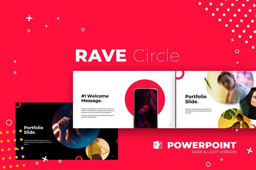 Zadarmo šablóny Powerpoint Rave