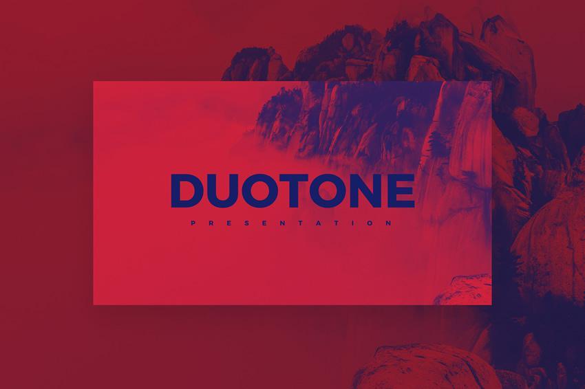 Duotone PowerPoint zdarma šablóna