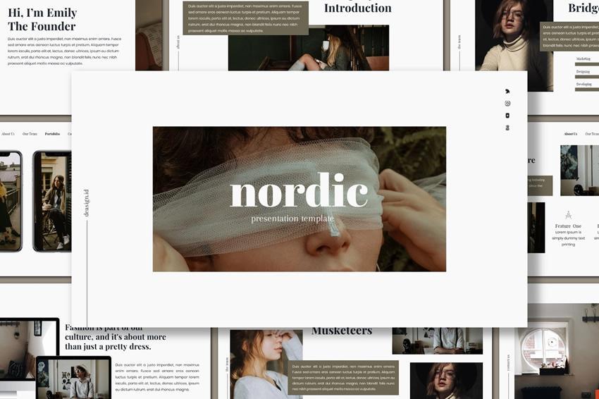 Plantilla de presentación gratuita de Nordic Powerpoint