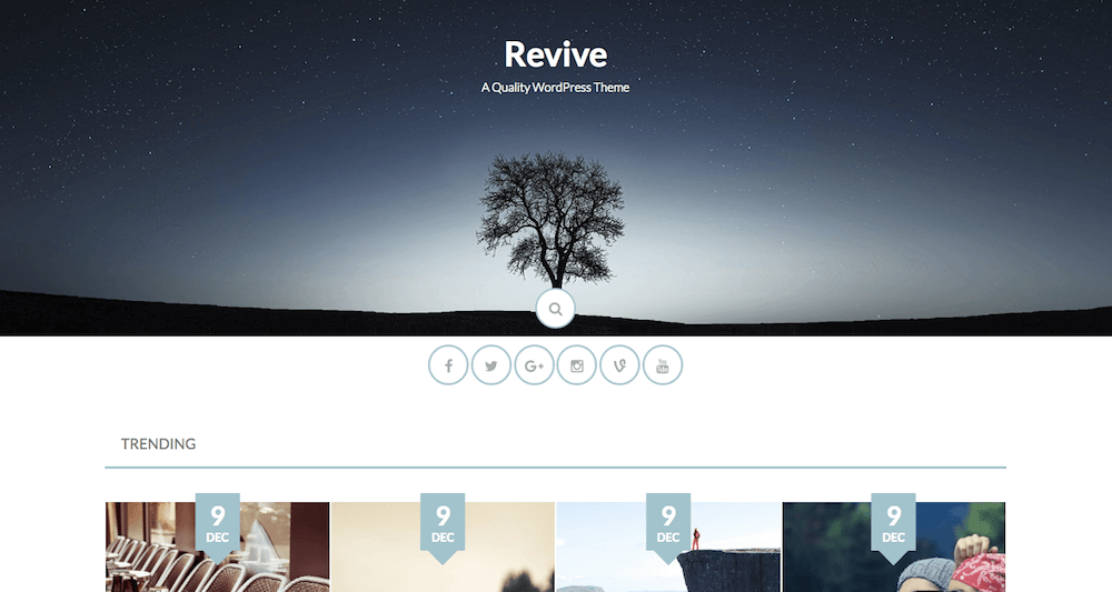 Revive el tema de Blogging gratis