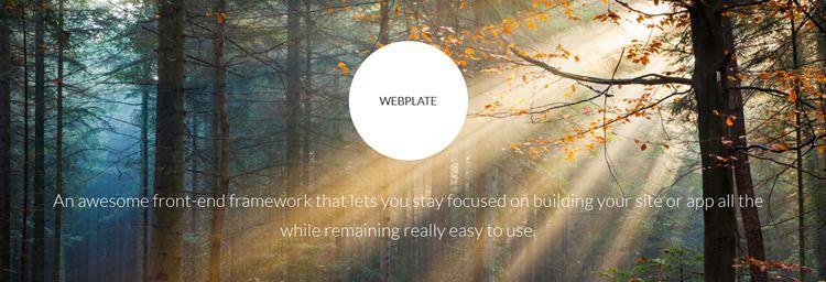 Webplate web Ľahký front-end framework robustný responzívny nástroj na návrh motora css html