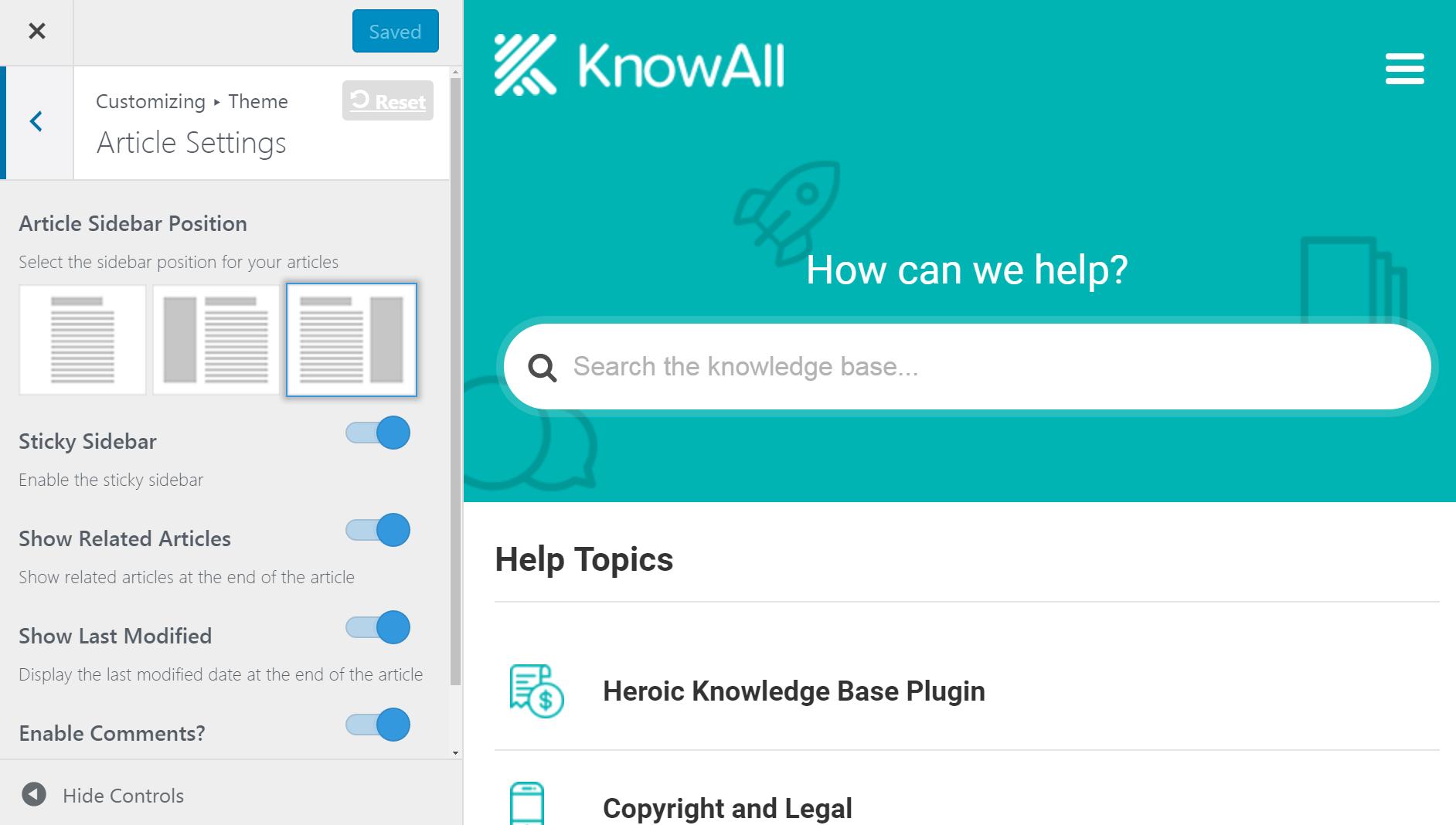 KnowVšetka konfigurácia článku.