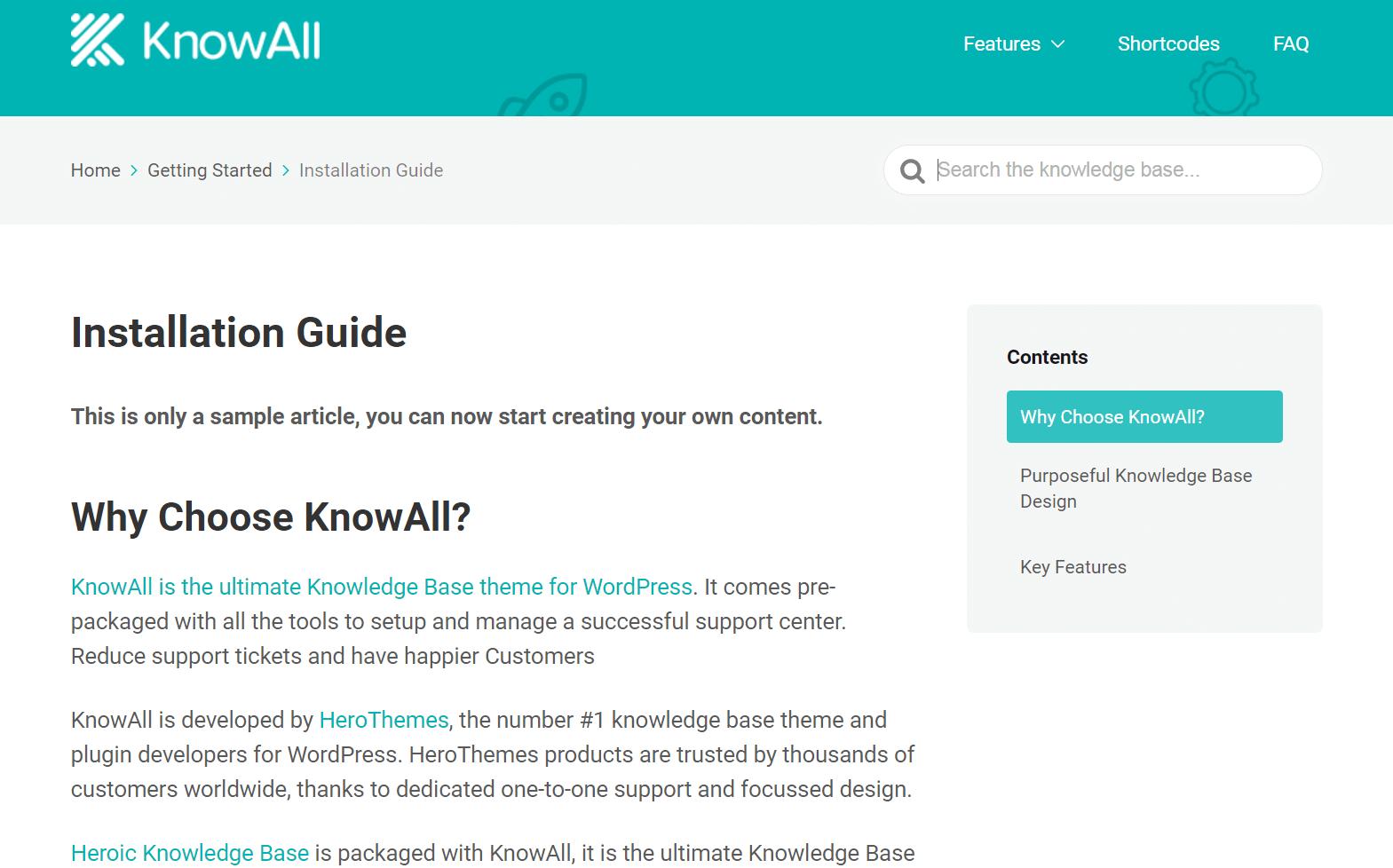Vzorový článok o KnowAll.