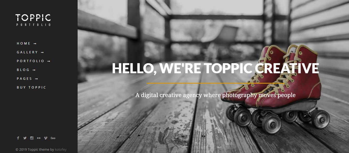 TopPic - Mejor tema de WordPress para la Galería Premium