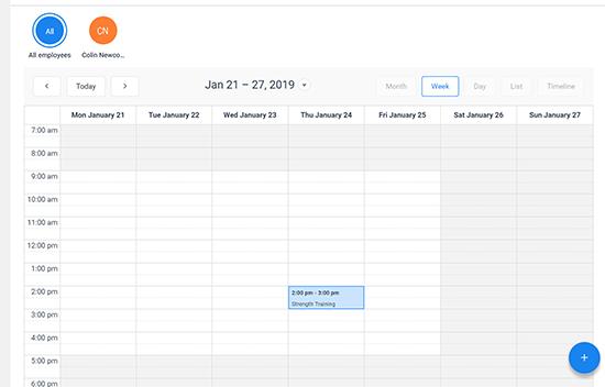Zobraziť udalosti kalendára