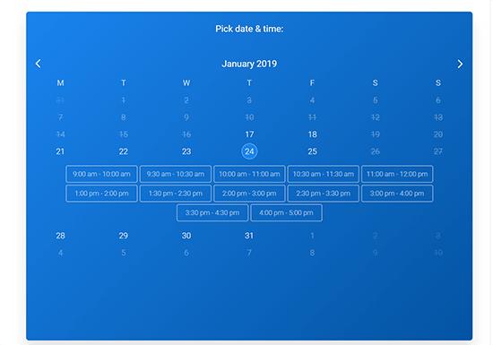 Perspektíva návštevníka Vyberte si dostupný dátum a čas