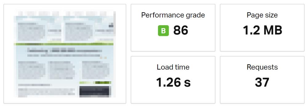 Test výkonnosti načítania stránky