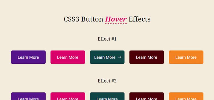 Efekty posúvania tlačidla CSS3 pomocou programu FontAwesome