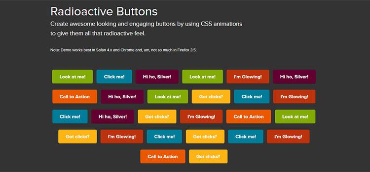 Rádioaktívne tlačidlá - Vytvárajte atraktívne a atraktívne tlačidlá pomocou animácií CSS