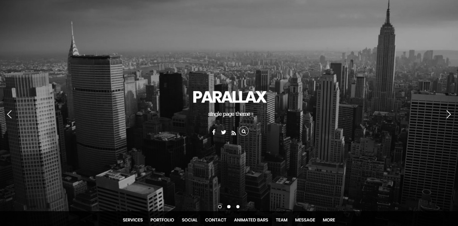 Themify parallax