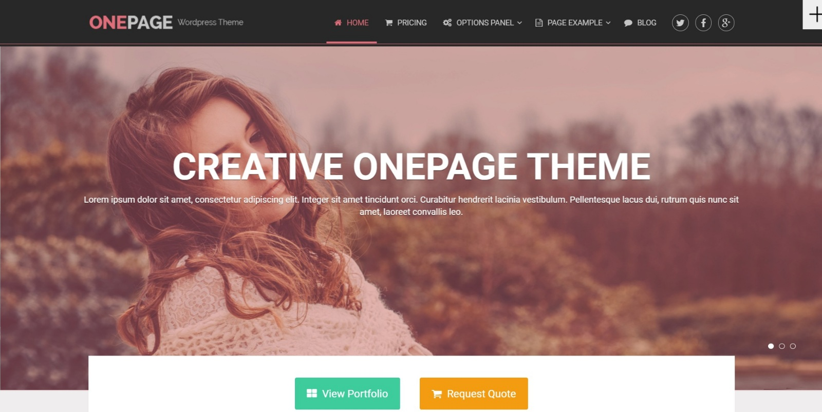 OnePage z MyThemeShop