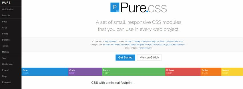 marco css puro