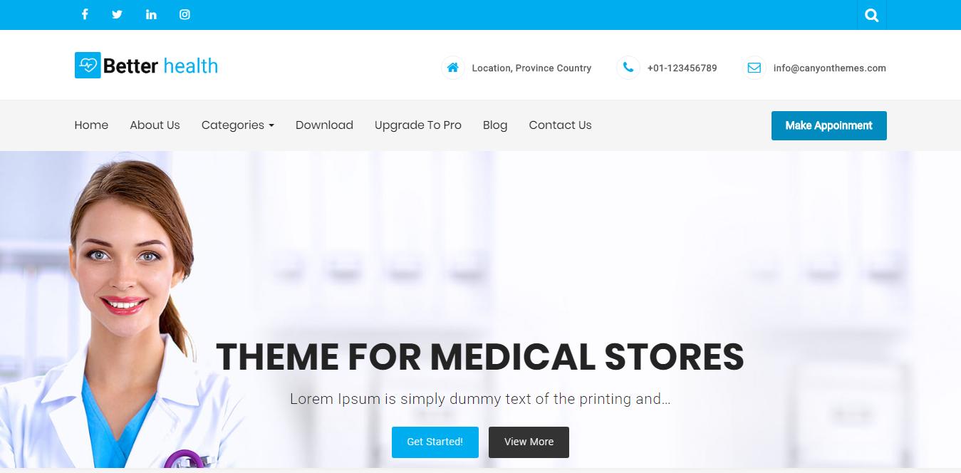 Najlepšie zdravie - Najlepšie bezplatné téma WordPress pre vedu