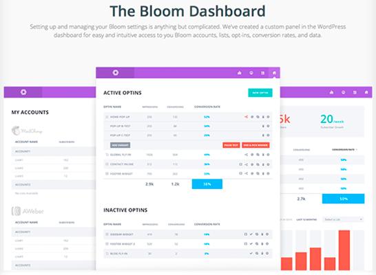 Panel de control de Bloom