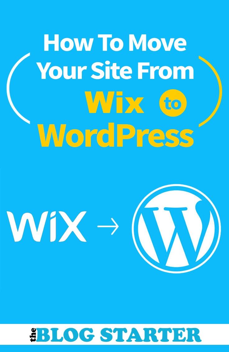Cómo transferir de Wix a WordPress